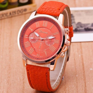 Leather Suisse Quartz Watch