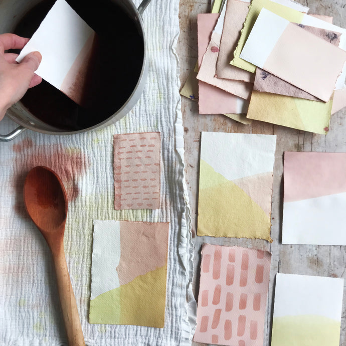 How to dye paper with natural dyes