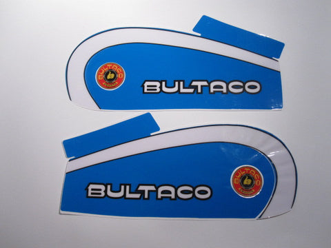 Bultaco, 1974, 250, Reproduced Tank Decal Kit
