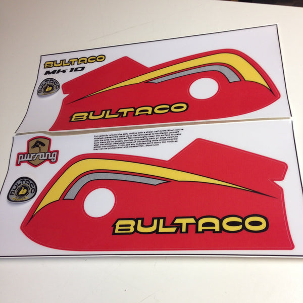Bultaco, 1977, Pursang 370 MK10, Tank Decal Kit