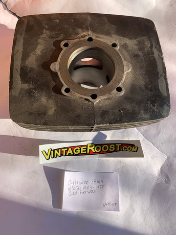 Can Am, Cylinder 74mm, MX2-MX3, 1977 Qualifier 250, Used Parts