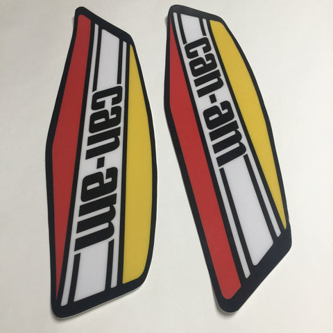 Can Am, 1973-75, MX1/MX2, Non-Perforated Tank Decals, Reproduction