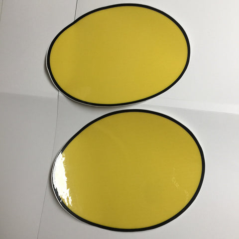 Can-Am, 1973-76, TNT, and 1973-75 MX1/MX2 Ovals, yellow, Reproduction
