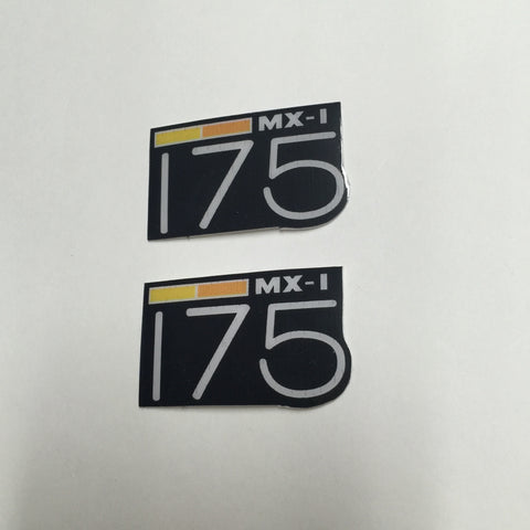 Can-Am,1973-75 MX1 175, Badge Decals, Reproduction