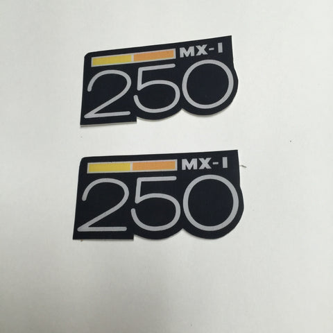 Can-Am,1973-75 MX1 250, Badge Decals, Reproduction