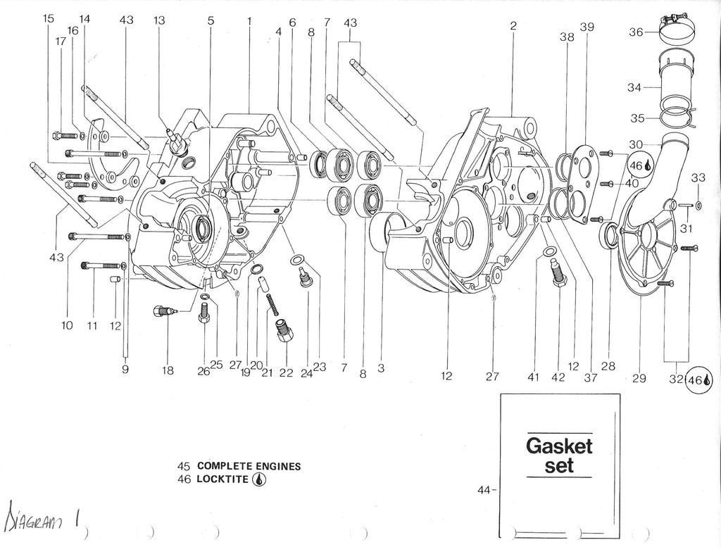 vintage roost can am 125 175 rotax engine seal gasket and o ring rh vintageroost com rotax max engine diagram rotax 122 engine diagram