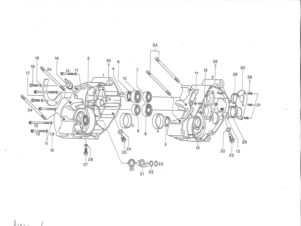 Rotax Engine Diagram Wiring Basic Motorcycle Clutch Librarycan Am 370 400 406 Seal Gasket