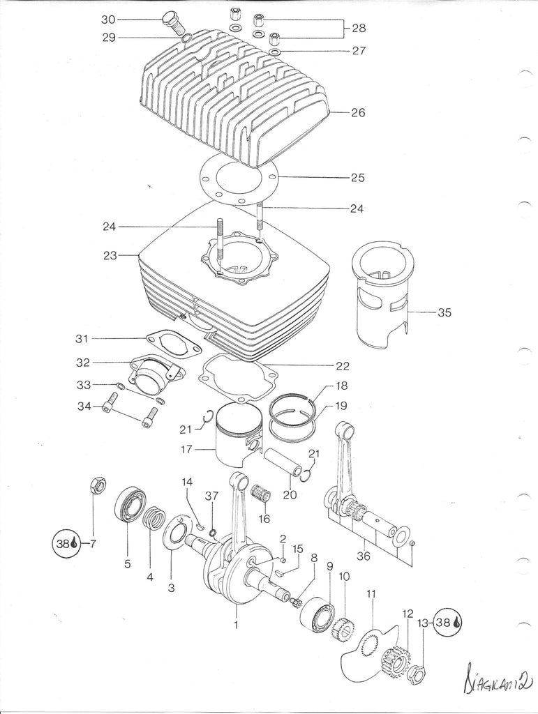 Rotax Motorcycle Engine Diagram Clutch Not Lossing Wiring 650 Vintage Roost Can Am 125 175 Seal Gasket And O Ring Rh Vintageroost Com 2 Stroke Starter