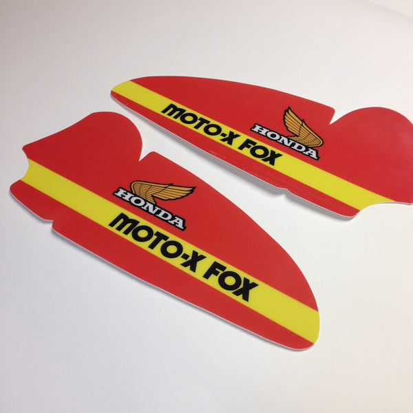 Honda, 1979, CR250 Moto Fox, Tank Decal Sheets