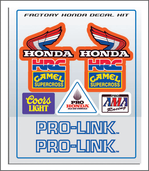 Honda, 1980s, Factory Supercross Decals