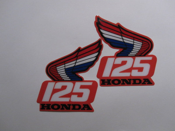 Honda, 1987, CR 125, Rad Decals