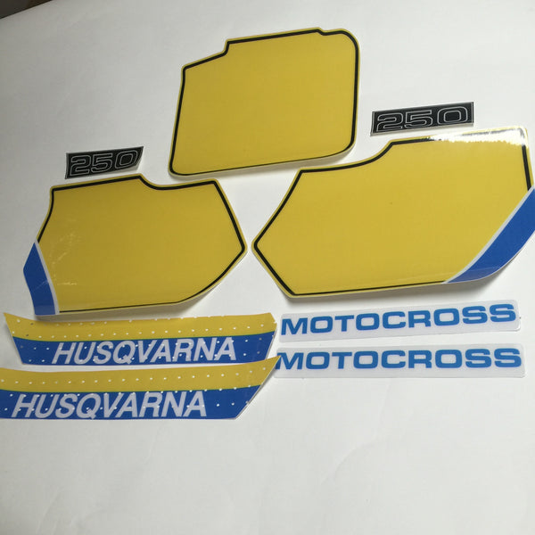 Husqvarna, 1987, 250 Cross Country Decal Kit