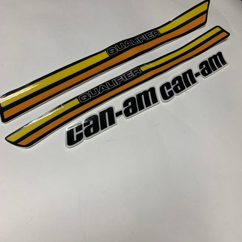 Can-Am, 1977, Qualifier, 125, 175, 250, Non Perforated Tank decals, Reproduction