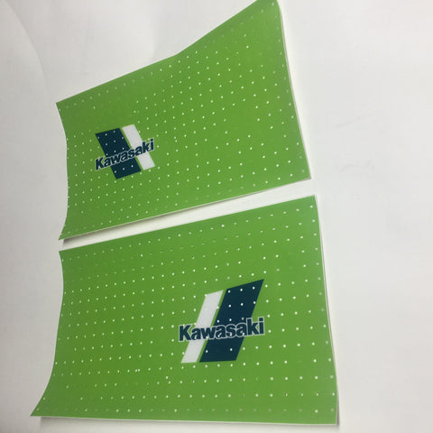 Kawasaki, 1980s, Small Logo Universal Tank Decal Sheets