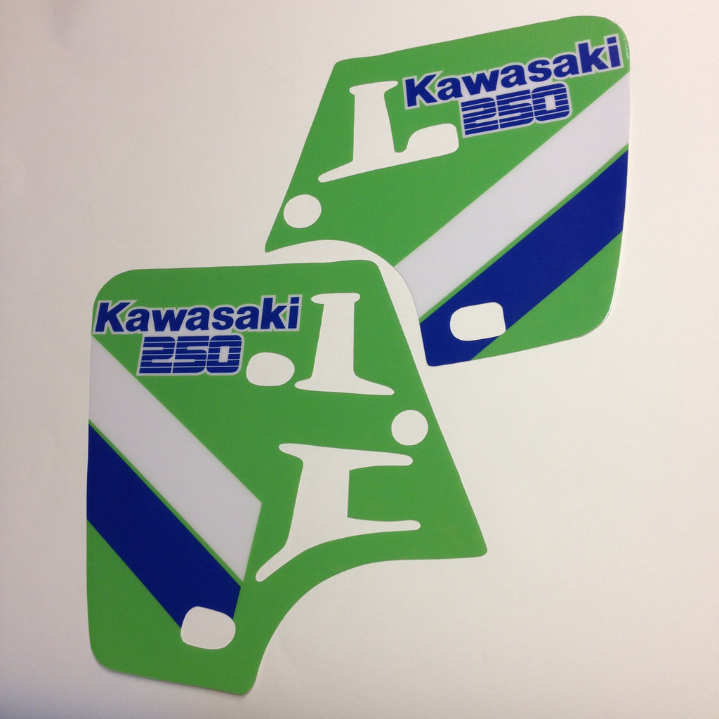 Vintage Roost Kawasaki 1987 Kx 250 Rad Decal Kit Kx250 Wiring Harness
