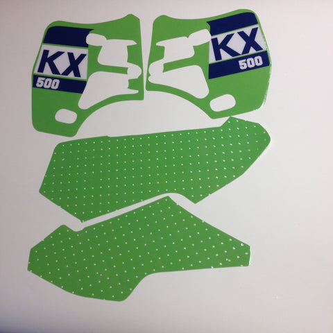 Kawasaki, 1988, KX 500, Tank and Rad Decal Kit