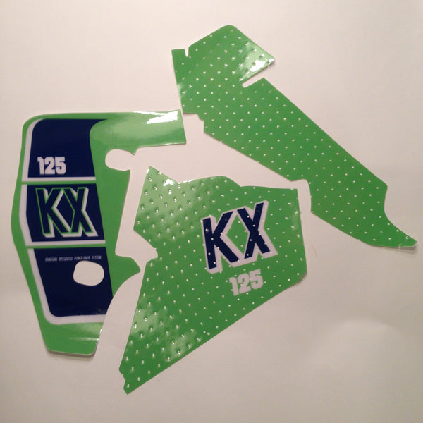 Kawasaki, 1989, KX 125, Tank and Rad Decal Kit