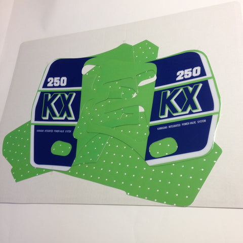 Kawasaki, 1989, KX 250, Tank and Rad Decal Kit