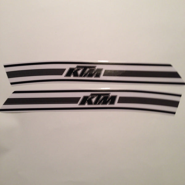KTM, 70's Tank Decals, Black on White