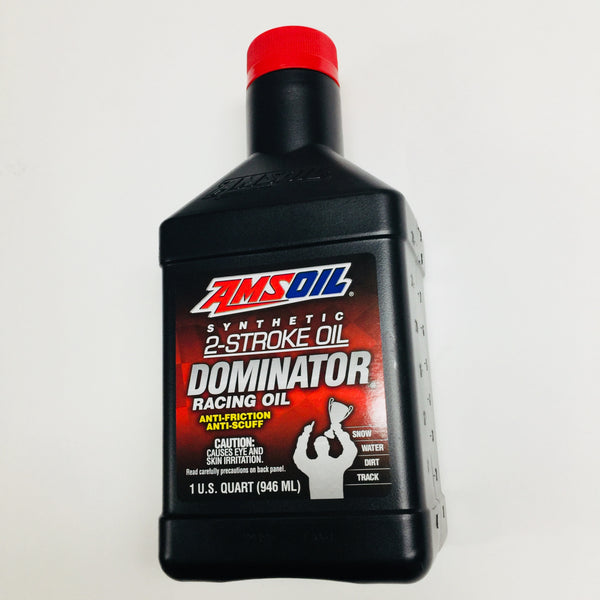 Amsoil DOMINATOR Synthetic 2-Stroke Racing Oil, Quart/946 ml