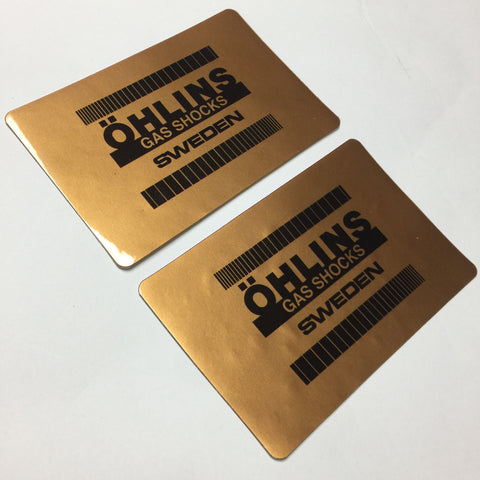 Ohlins Decals, Gold