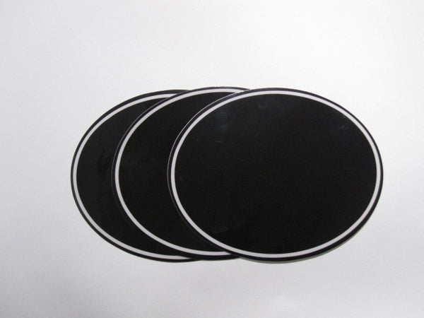 Oval Number Plate Background Decals, Black