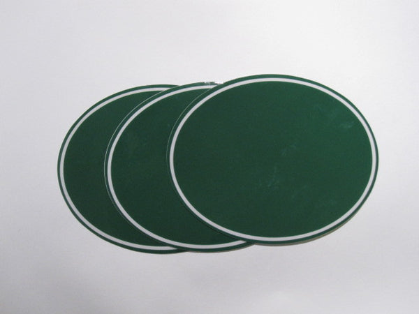 Oval Number Plate Background Decals, Green
