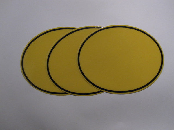 Oval Number Plate Background Decals, Yellow