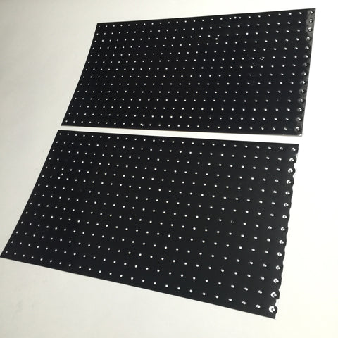 Black, Perforated Tank Decals, Universal Self-Cut Sheets