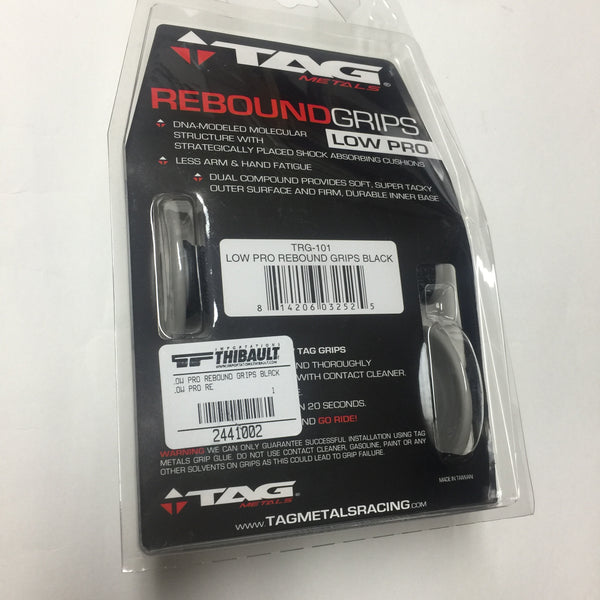 MX TAG Low Pro Rebound Grips, Universal,  Black