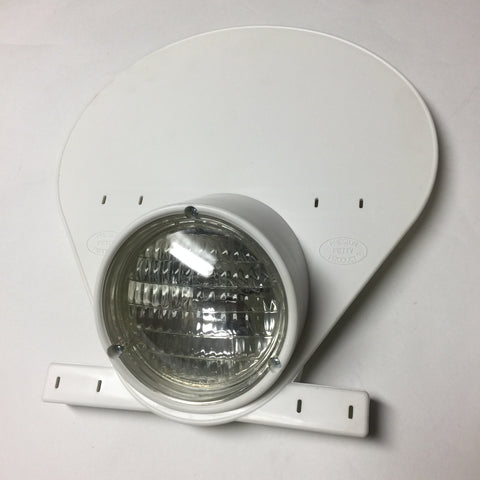 Headlight Number Plate, with Halogen light, Preston Petty, Vintage, White/Blue/Yellow - NEW!