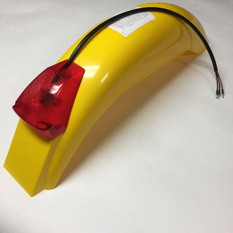 IT Preston Petty, Vintage, Universal Rear Fender, with Taillight Assembly, Dark Yellow