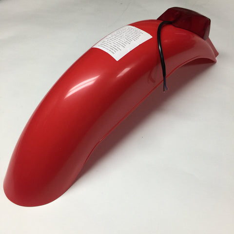 IT Preston Petty, Vintage, Universal Rear Fender, with Taillight Assembly, Red