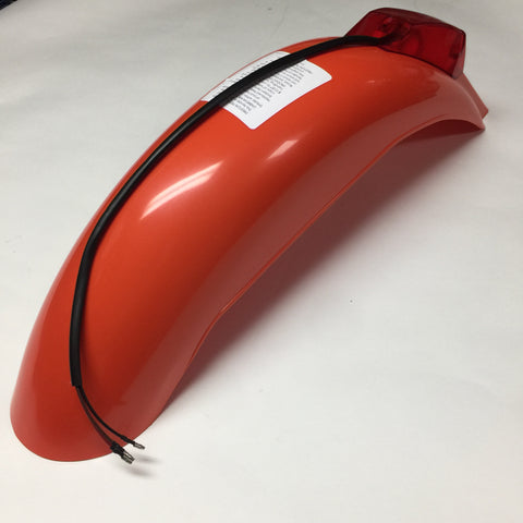 IT Preston Petty Vintage, Universal Rear Fender, with Taillight Assembly, Dark Orange