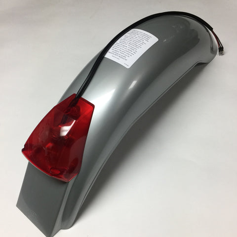 IT Preston Petty, Vintage, Universal Rear Fender, with Taillight Assembly, Silver Grey