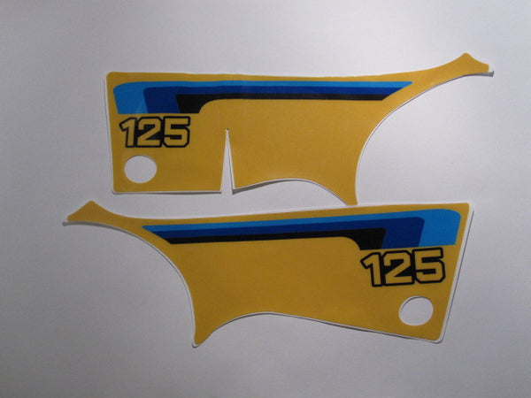 Suzuki, 1980, RM 125, Side Panel Decals, Reproduction