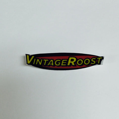 Vintage Roost Bike Decal