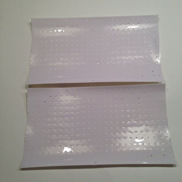White, Perforated Tank Decals, Universal Self-Cut Sheets