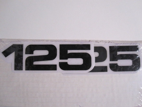 Yamaha, Side Panel Decals, 125, Black, Reproduction
