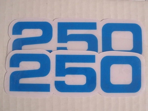 Yamaha, Side Panel Decals, 250, Blue