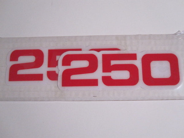 Vintage Roost Yamaha Side Panel Decals 250 Red