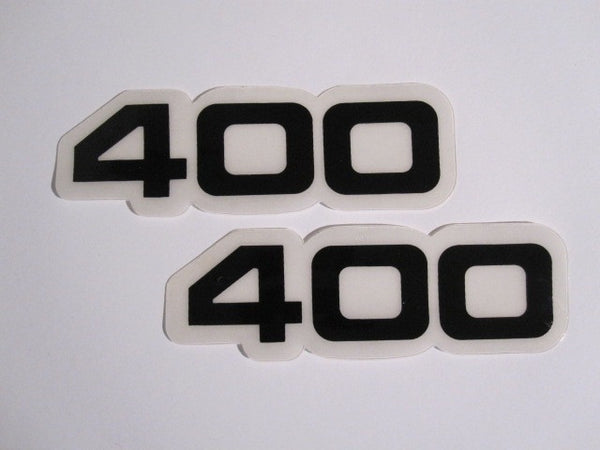Yamaha, Side Panel Decals, 400, Black