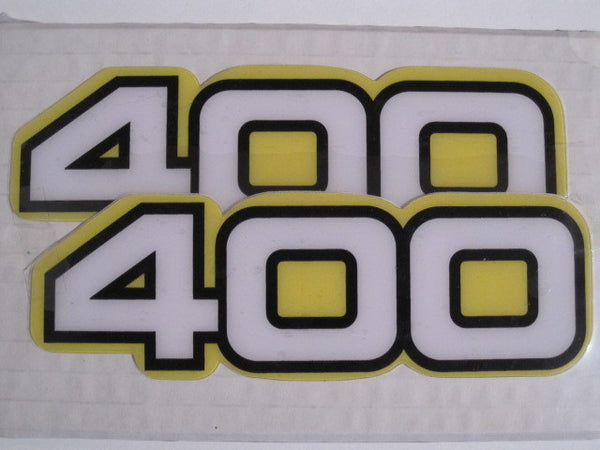 Yamaha, Side Panel Decals, 400, White