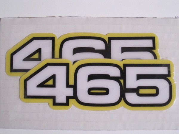 Yamaha, Side Panel Decals, 465, White, Reproduction