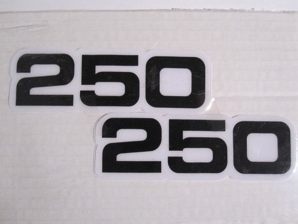 Yamaha, Side Panel Decals, 250, Black