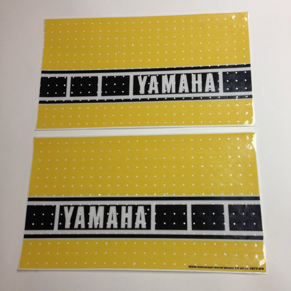 Yamaha, 1977-80, US Speed Block Self Cut Sheets, Universal Tank Decals