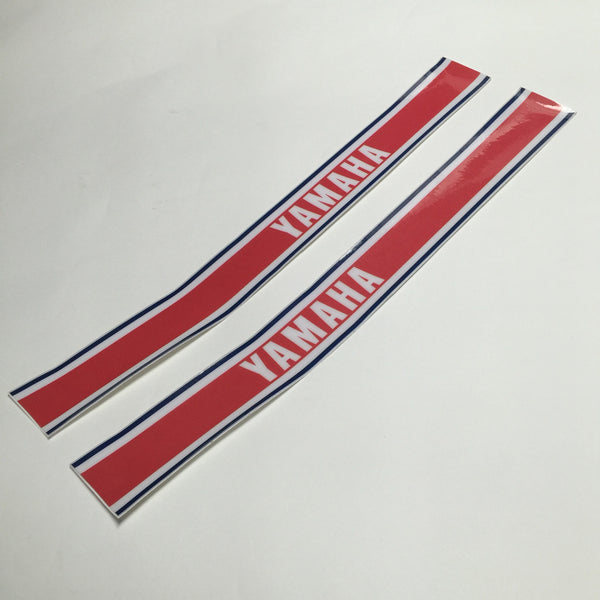 Yamaha, 1978-79, Red, Navy, White, Tank Stripe Decals