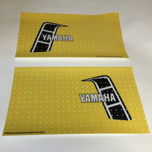 Yamaha, 1982, YZ, US Tank Decals, Self Cut Sheets, Reproduction