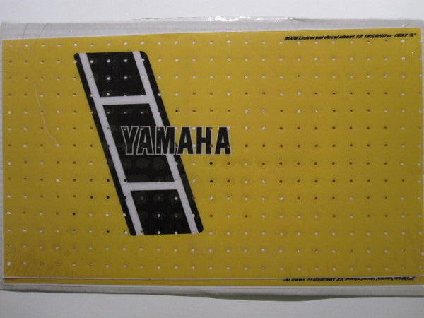 Yamaha, 1983, YZ 125/250, Universal US Tank Decal Sheets