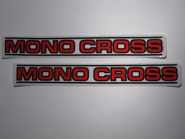 Yamaha, 1983-86, Mono-X Swing Arm Decals, Reproduction